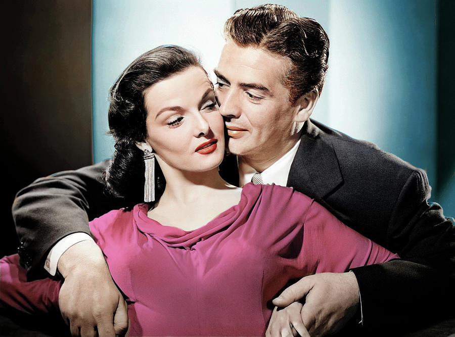 Jane Photograph - Jane Russell and Victor Mature by Stars on Art
