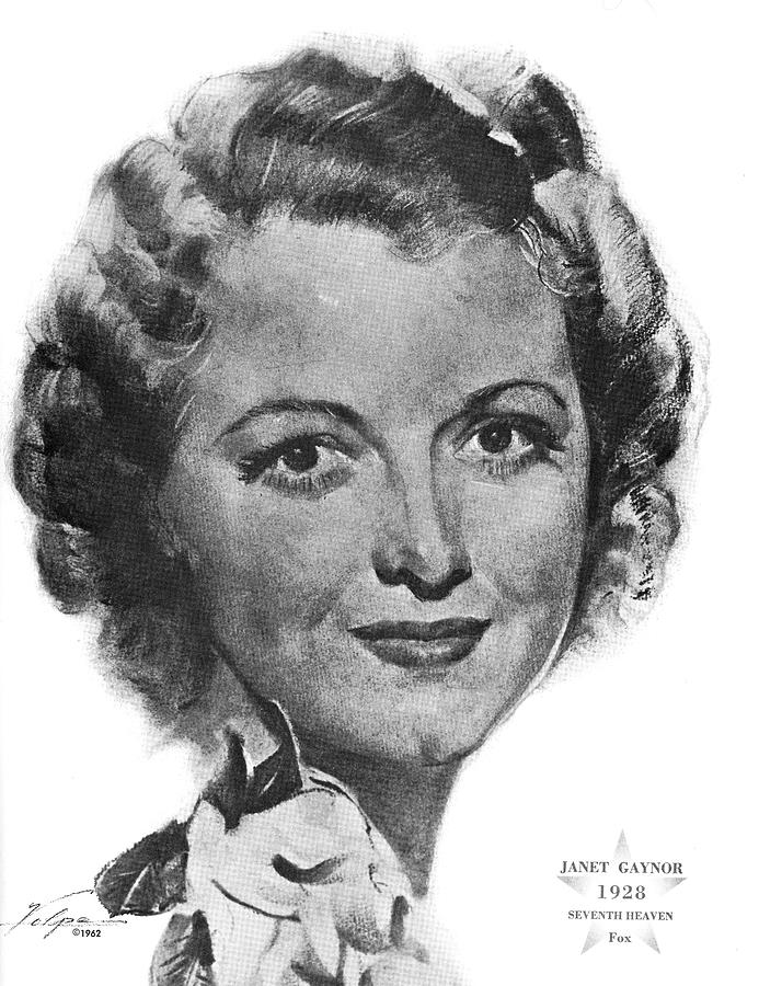 Janet Gaynor By Volpe Drawing
