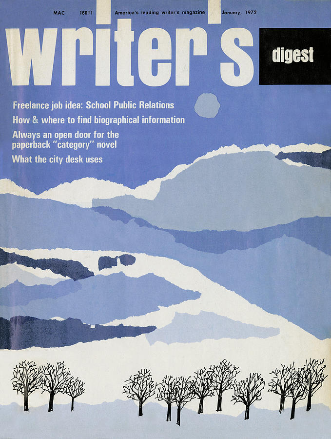 Magazine Covers Digital Art - January 1972 by Writers Digest
