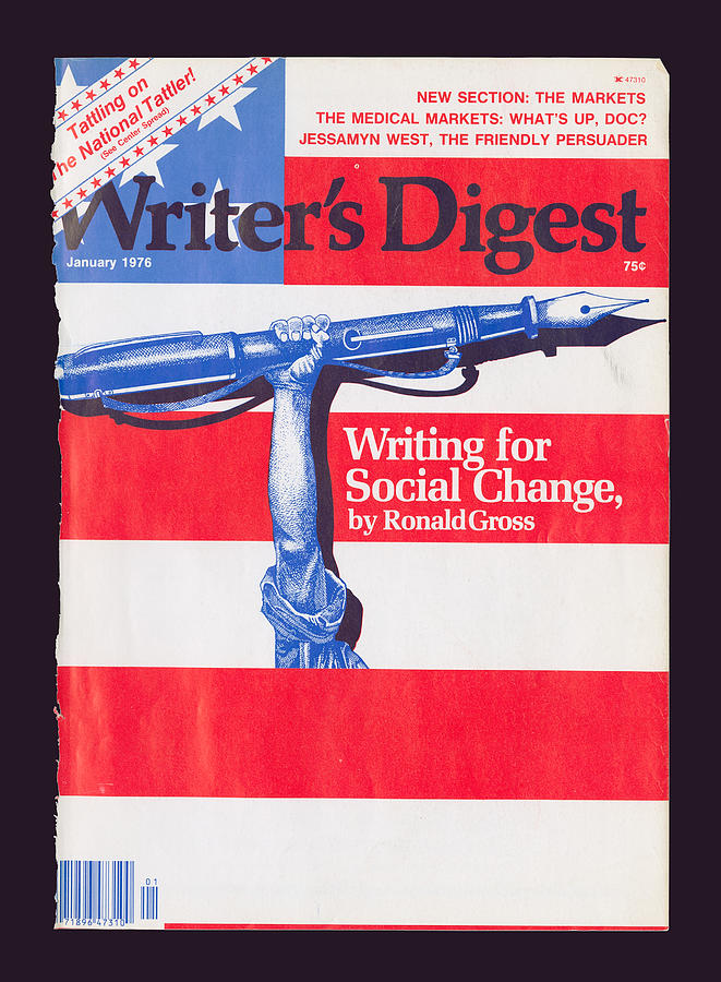 Social Change Digital Art - January 1976 Cover by Writers Digest