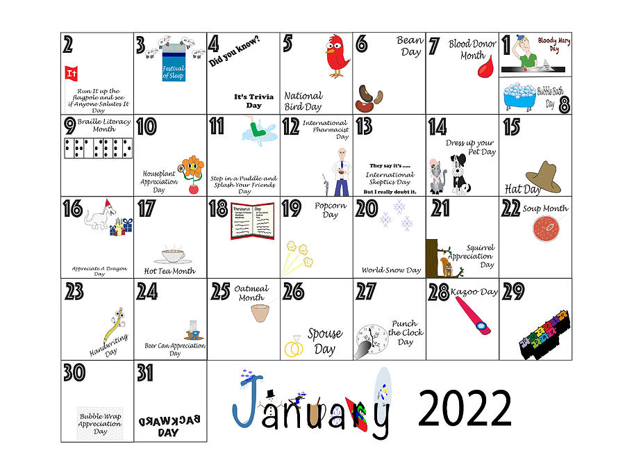 January 2022 Quirky Holidays And Unusual Celebrations Photograph