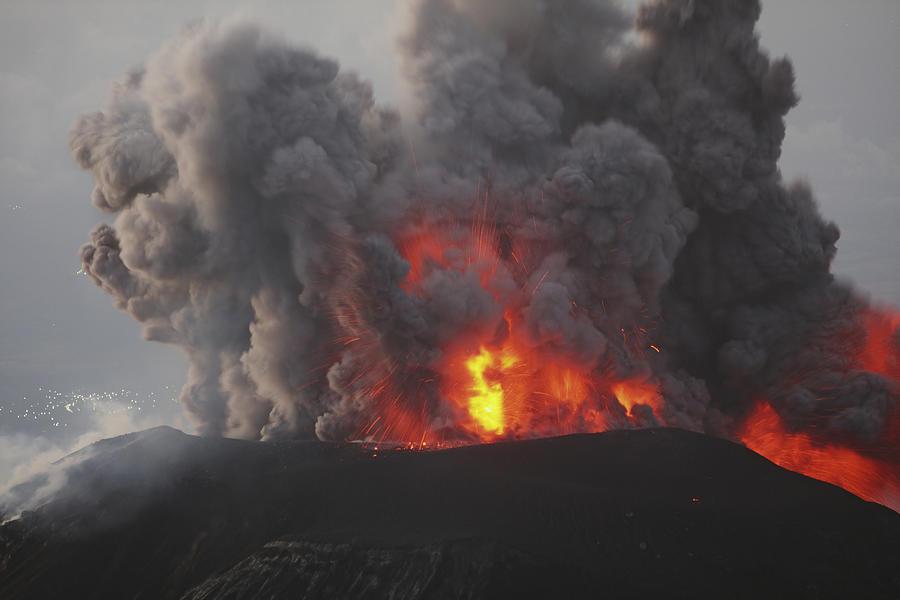 January 3, 2009 - Santiaguito Eruption, Guatemala. Photograph by Stocktrek Images