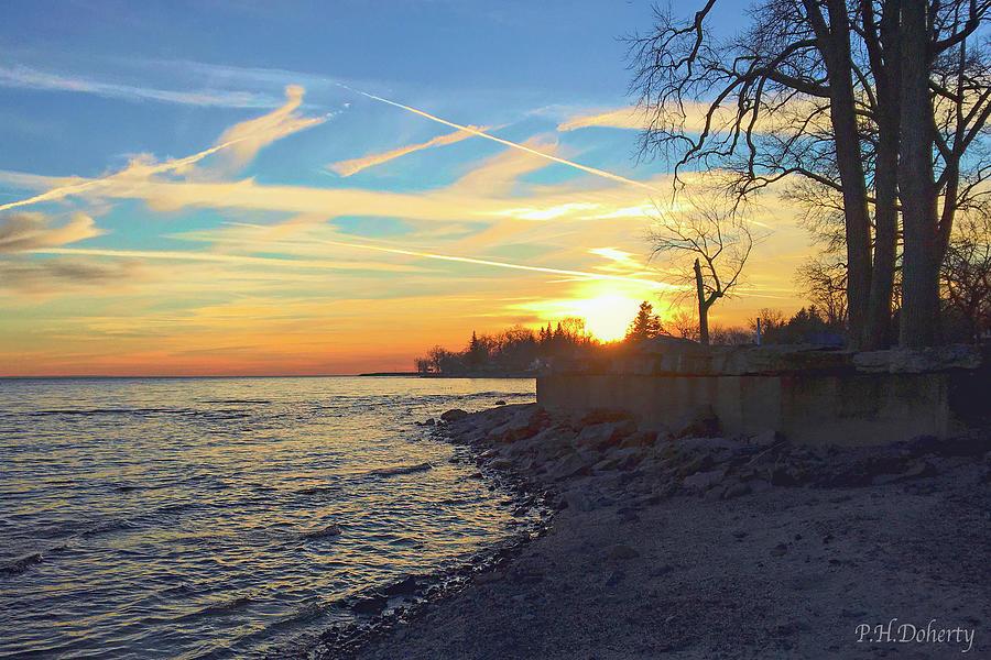 January Shoreline Photograph