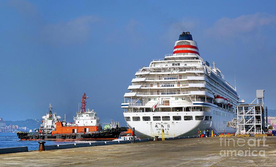Japanese Cruise Ship Docks in Taiwan by Yali Shi