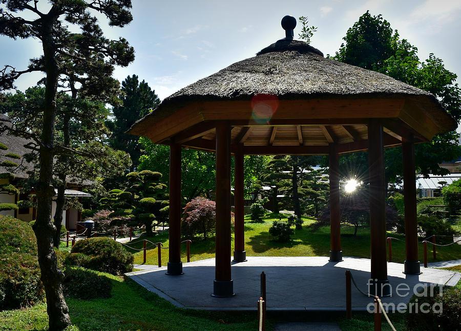 Japanese Garden Gazebo, Hamburg  by Yvonne Johnstone
