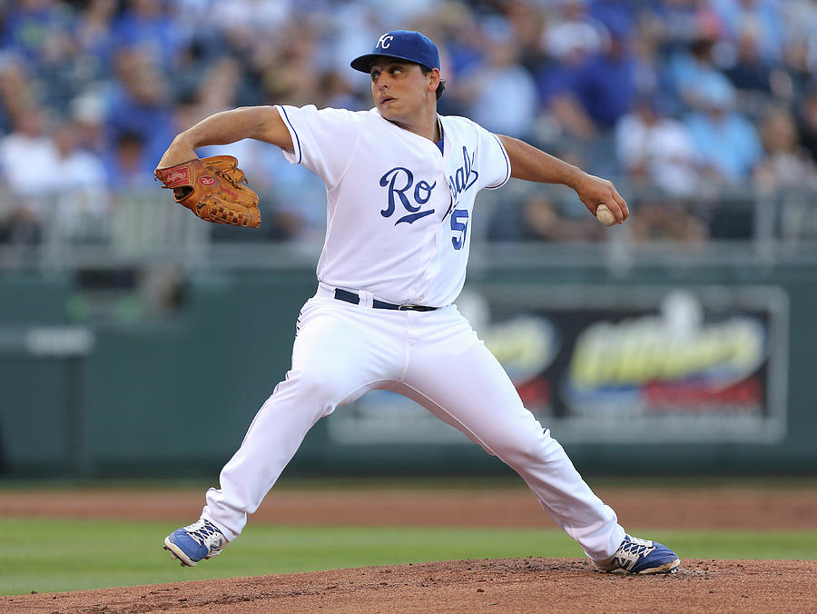 Jason Vargas Photograph by Ed Zurga