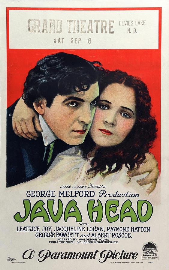 java Head Movie Poster 1923 Mixed Media