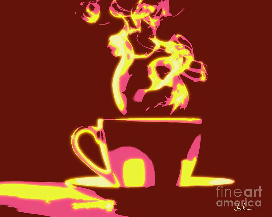 Coffee Painting - Java by Jack Bunds