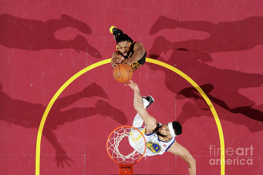 Javale Mcgee and Tristan Thompson Photograph by Andrew D. Bernstein