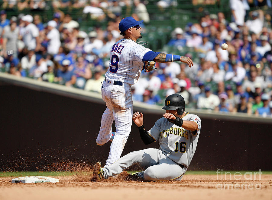 Javier Baez And Jung Ho Kang Photograph by Quinn Harris