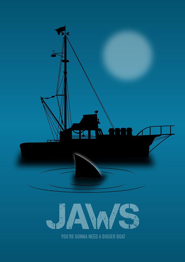Jaws Digital Art - Jaws - Alternative Movie Poster by Movie Poster Boy