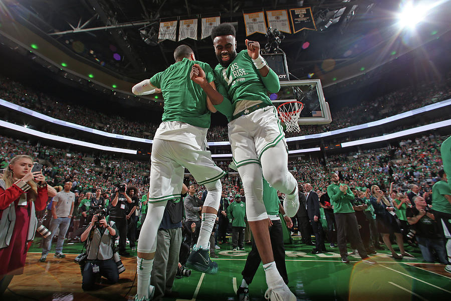 Jaylen Brown and Jayson Tatum Photograph by Nathaniel S. Butler