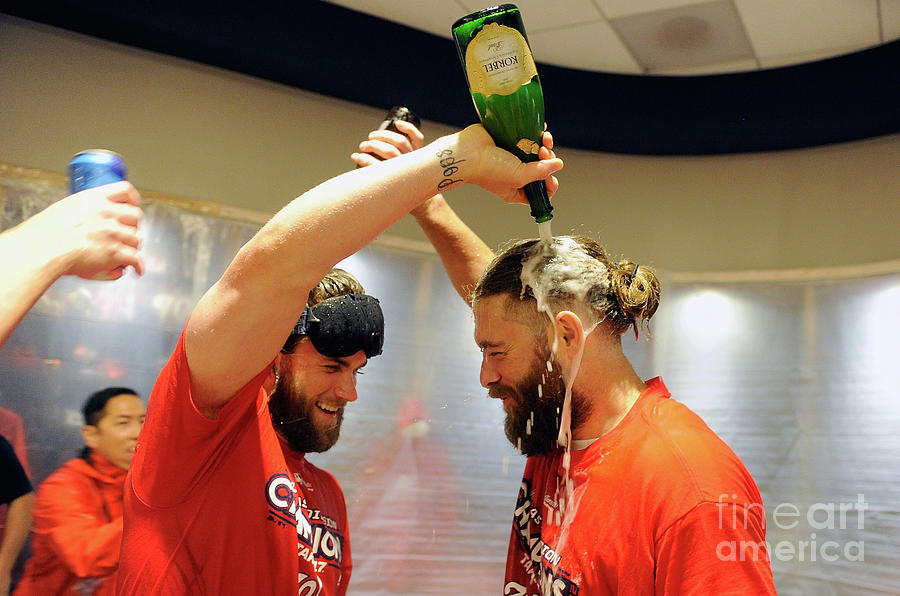 Jayson Werth and Bryce Harper Photograph by Greg Fiume