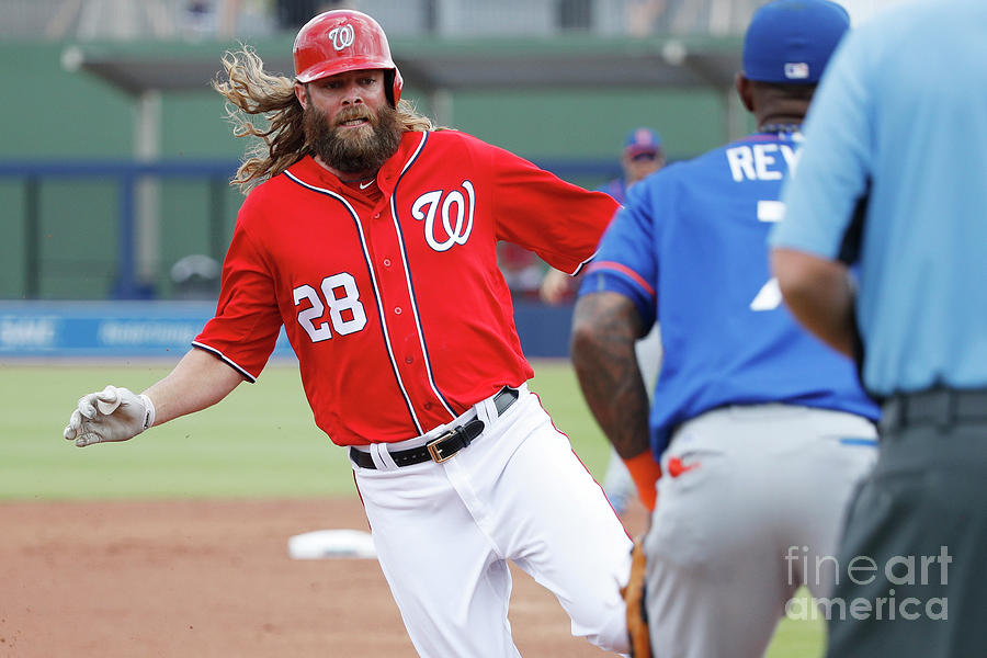 Jayson Werth and Bryce Harper Photograph by Joe Robbins