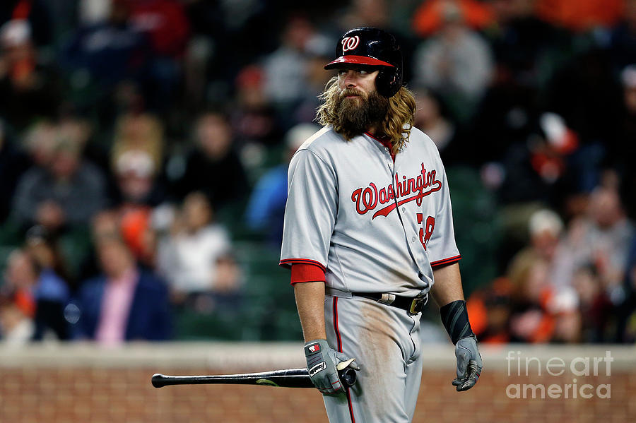 Jayson Werth Photograph by Matt Hazlett