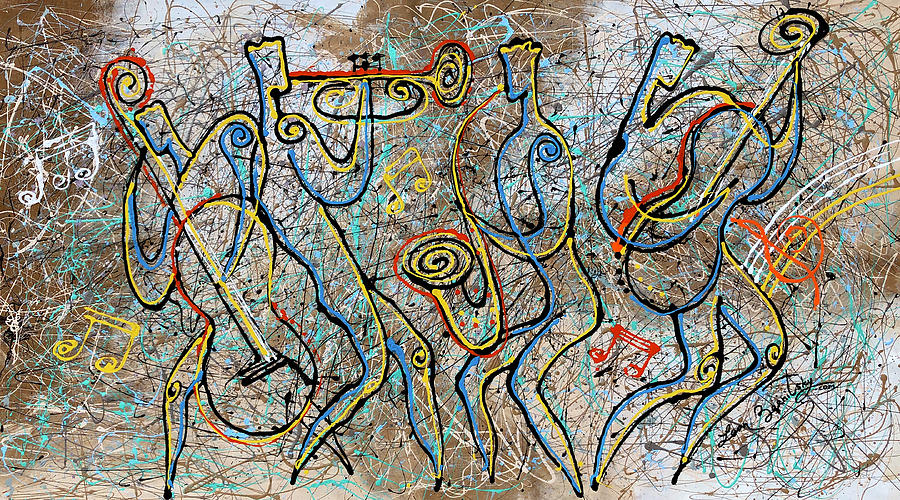 Jazz, Blues And Jackson Pollock Rhythm Painting