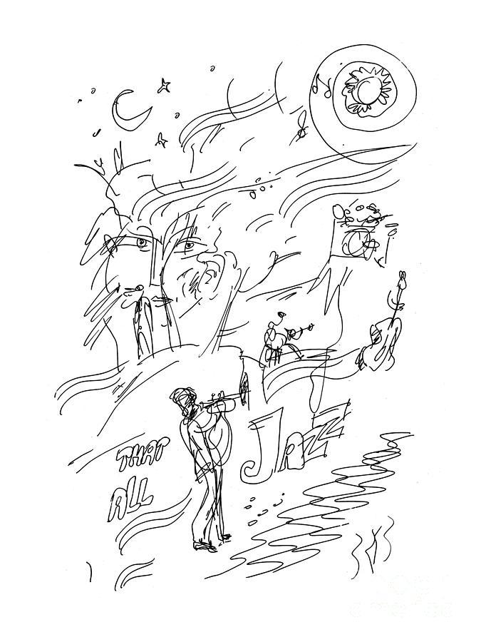 Jazz - Midnight Tunes Drawing