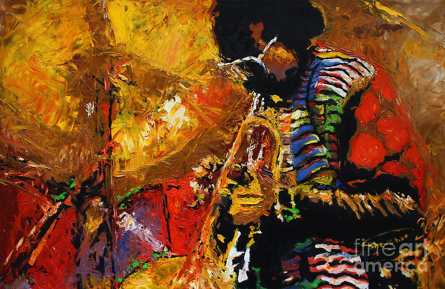 Jazz Painting - Jazz Miles Davis 3 by Yuriy Shevchuk