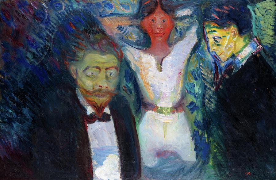 Jealousy Fine Art Print//Poster 878 Edvard Munch