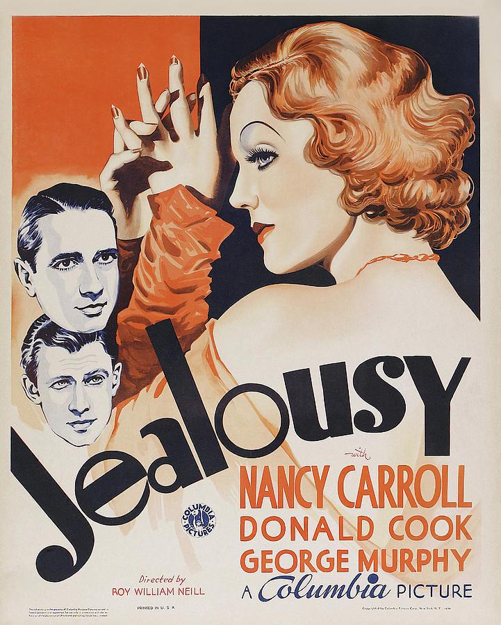 Nancy Mixed Media - Jealousy - 1934 by Stars on Art