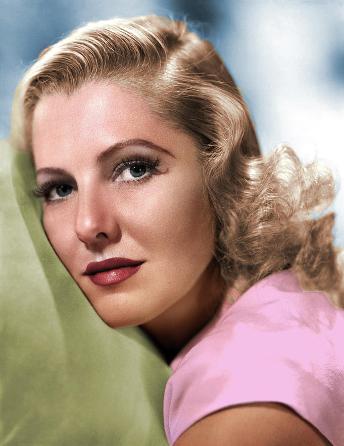 Jean Arthur Colorized Photograph