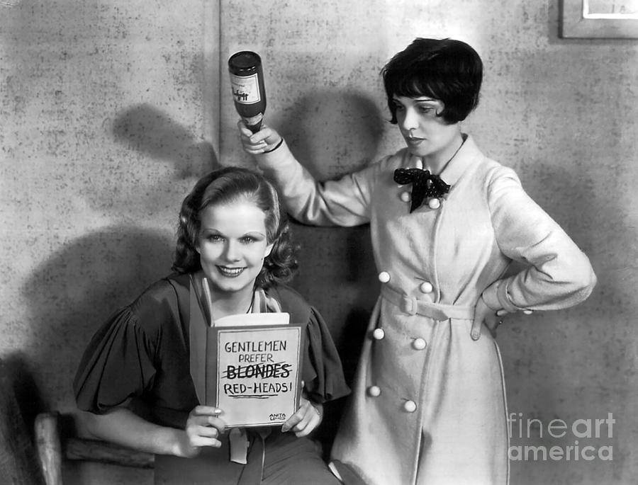 Jean Harlow Photograph - Jean Harlow and Anita Loos  by Sad Hill - Bizarre Los Angeles Archive