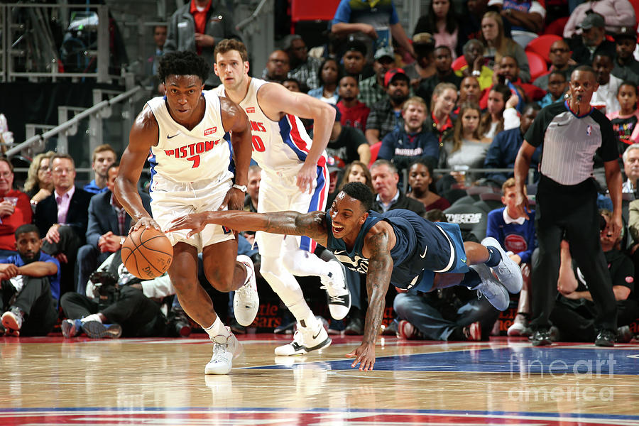 Jeff Teague and Stanley Johnson Photograph by Brian Sevald