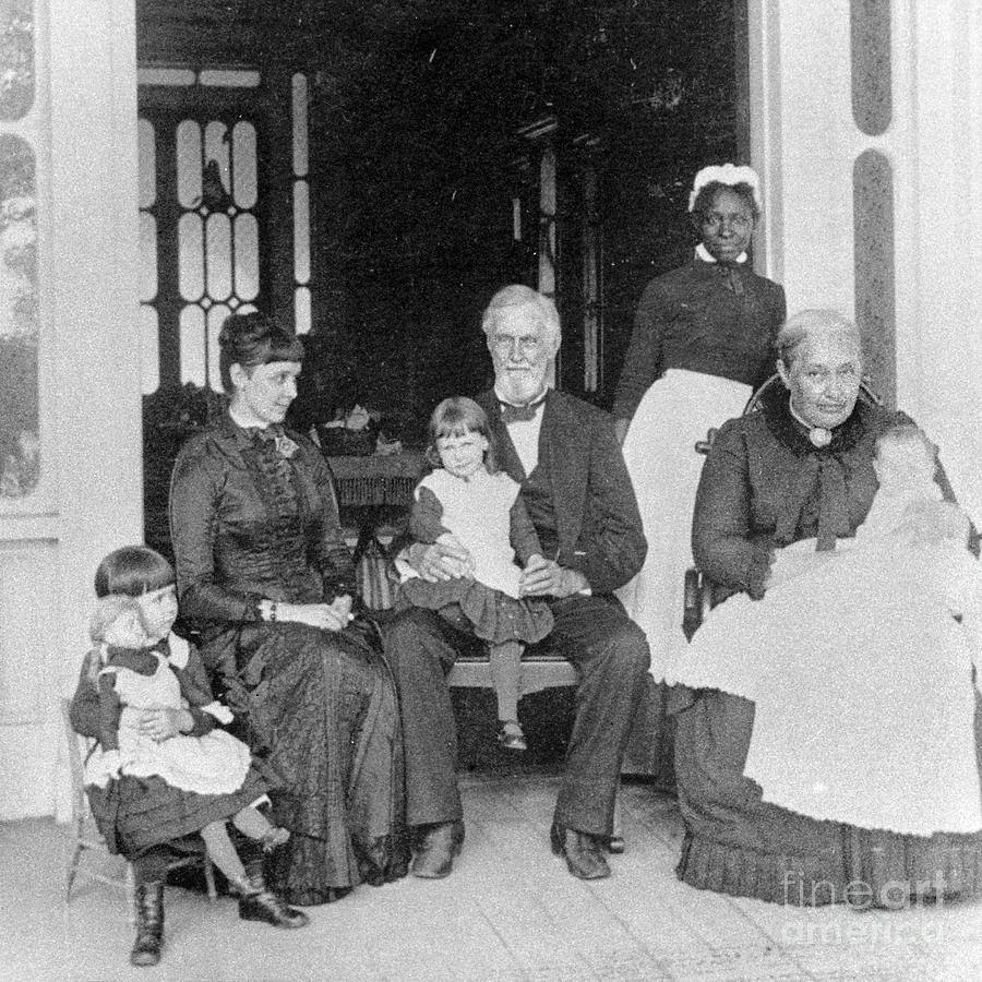 Jefferson Davis and Family by Granger