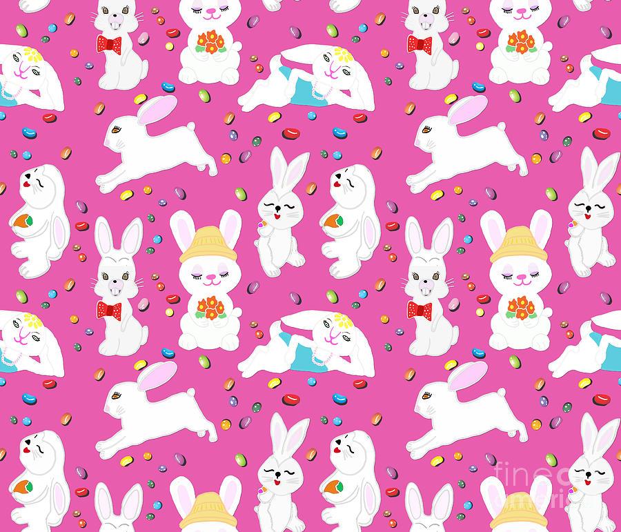 Jelly Beans And Bunnies Digital Art