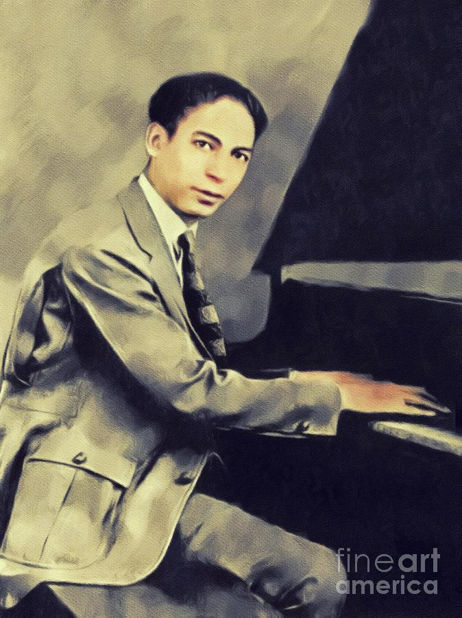 Jelly Painting - Jelly Roll Morton, Music Legend by John Springfield