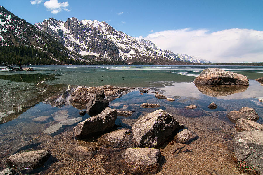 Jenny Lake And Tetons Photograph