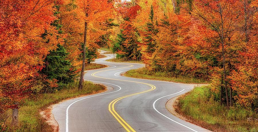 Jens Jensen Winding Road Panoramic by Adam Romanowicz