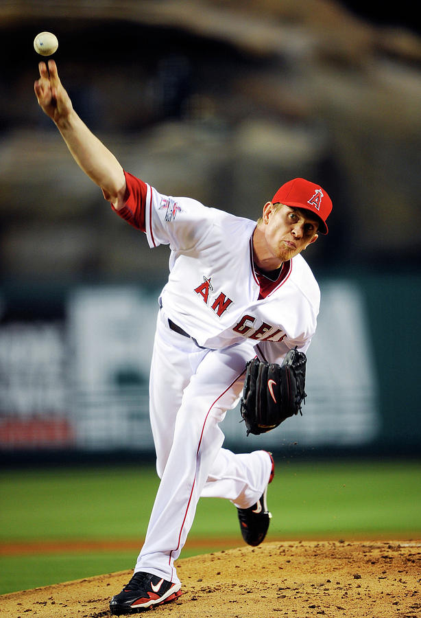 Jered Weaver Photograph by Kevork Djansezian