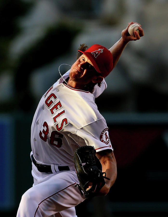 Jered Weaver Photograph by Stephen Dunn
