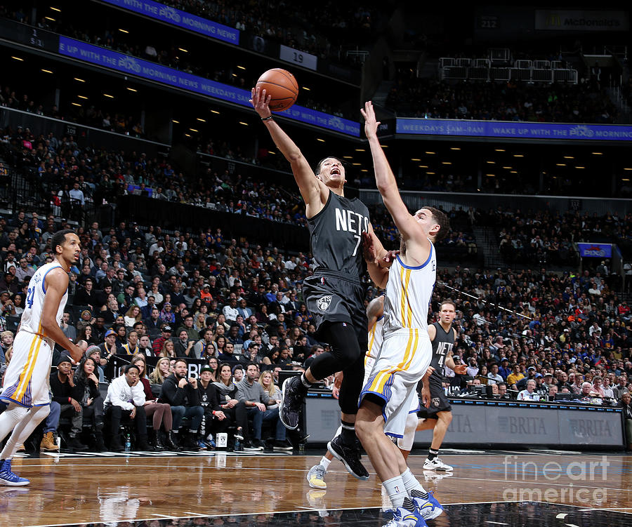 Jeremy Lin and Klay Thompson Photograph by Nathaniel S. Butler