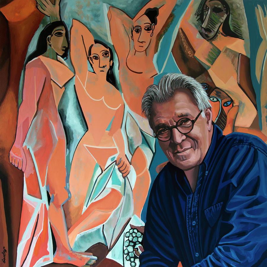 Jeroen Krabbe Loves Les Demoiselles D Avignon Of Picasso Painting By Paul Meijering