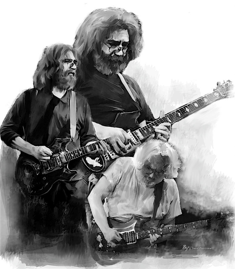 Jerry Garcia Feeling It Free by Iconic Images Art Gallery David Pucciarelli