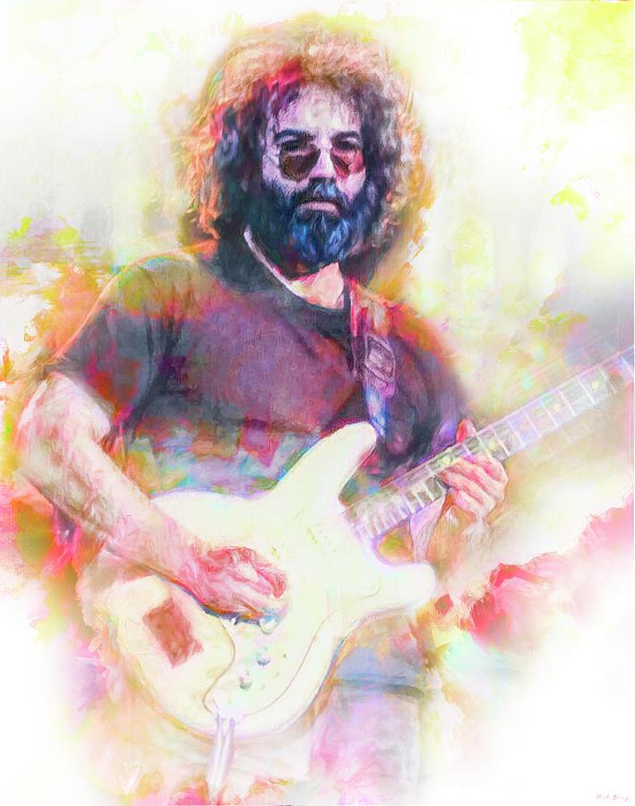 Jerry Garcia The Grateful Dead Mixed Media