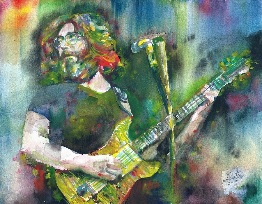 JERRY GARCIA - watercolor portrait.18 by Fabrizio Cassetta
