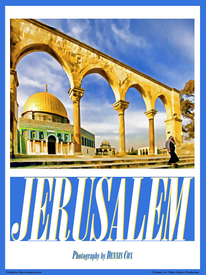 Jerusalem Travel Poster Photograph