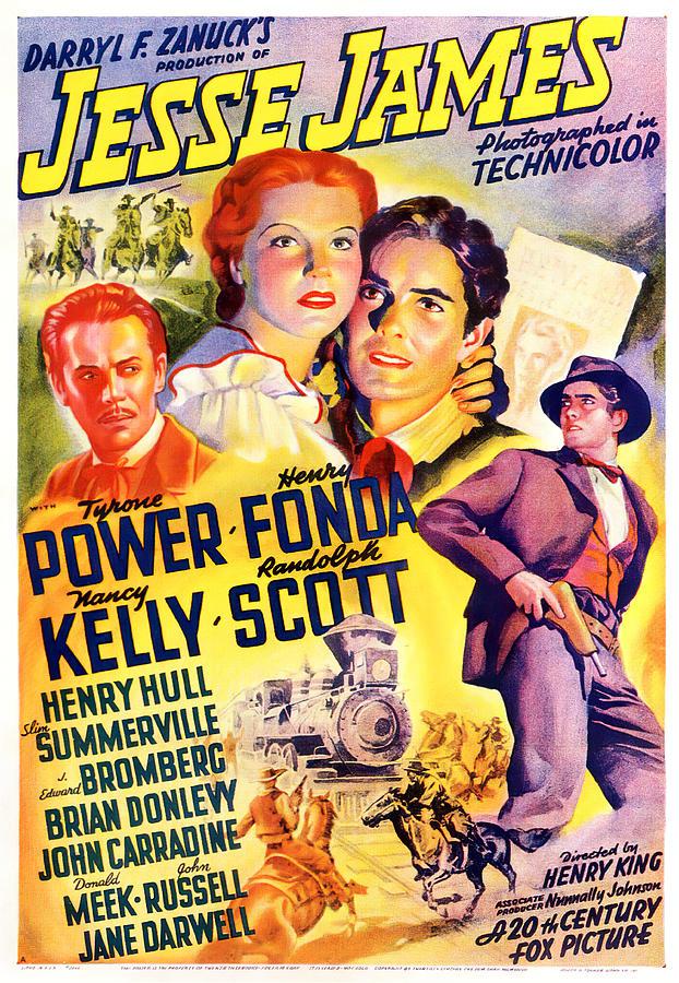 jesse James, With Tyrone Power And Henry Fonda, 1939 Mixed Media