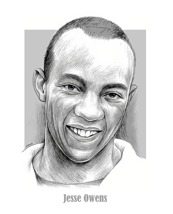 Jesse Owens Mixed Media - Jesse Owens 14SEP21 by Greg Joens