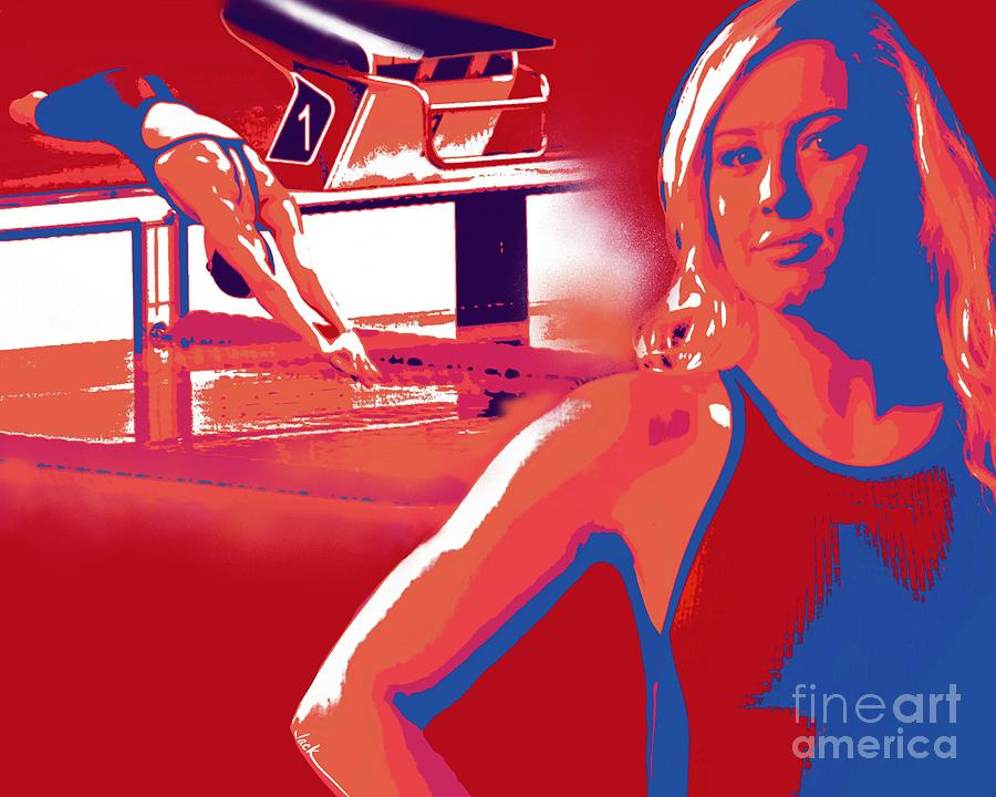 Paralympic Painting - Jessica Long by Jack Bunds