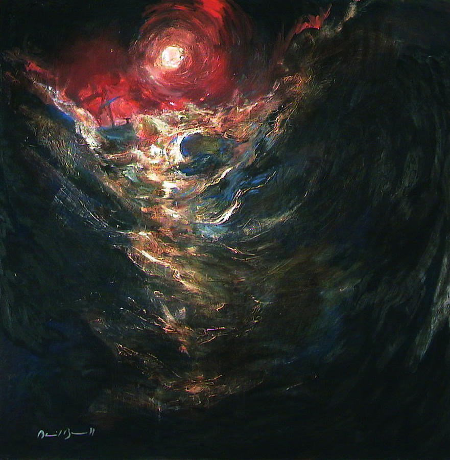 Christian Imagery Painting - Jesus Calms the Storm by Daniel Bonnell