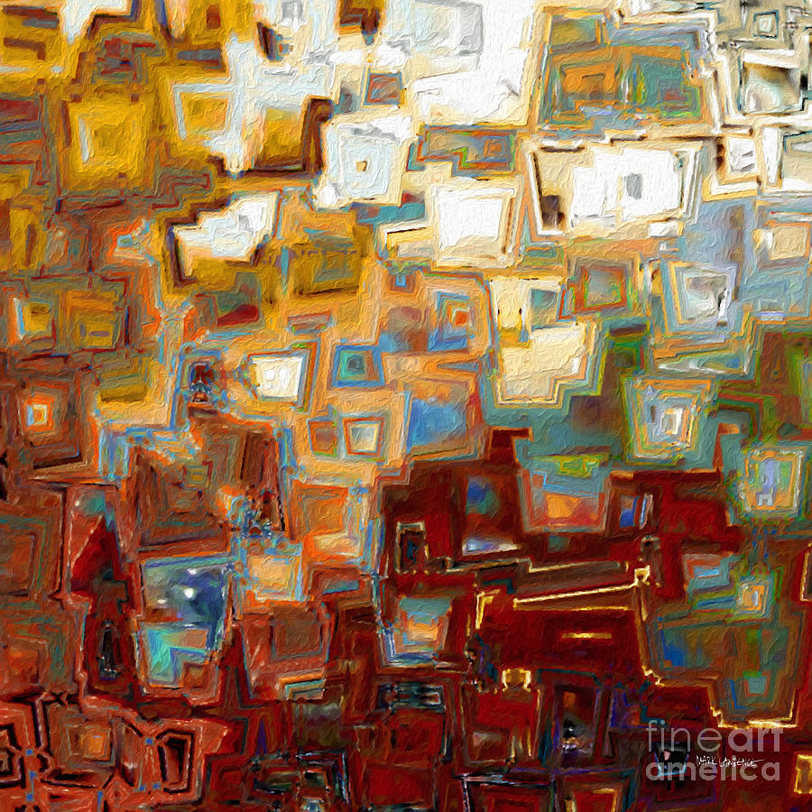 Red Painting - Jesus Christ The Mighty One. Isaiah 60 16 by Mark Lawrence