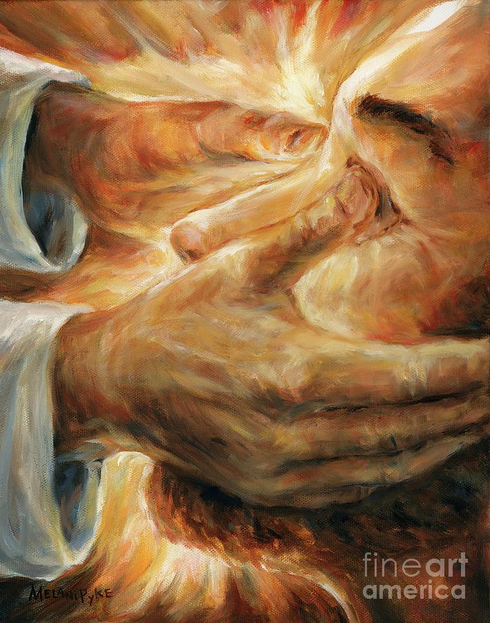 Jesus Heals a Blind Man II Painting by Melani Pyke