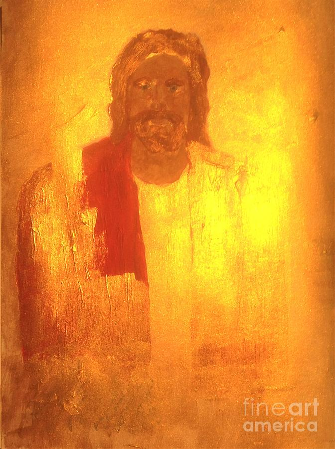 Jesus Painting - Jesus is the Christ The Holy Messiah who soon will come in glory by Richard W Linford