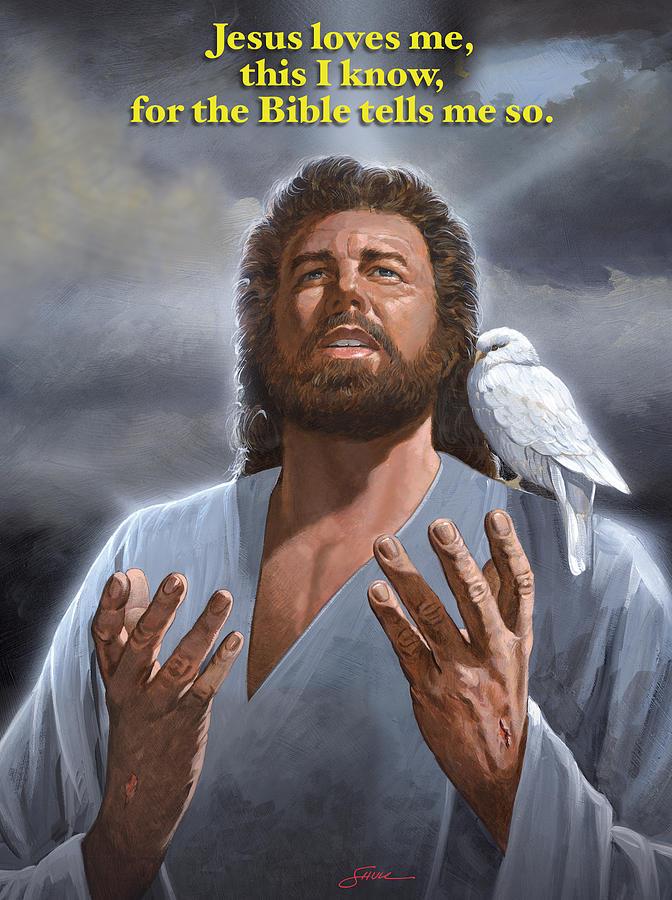 Jesus Loves Me Painting by Harold Shull