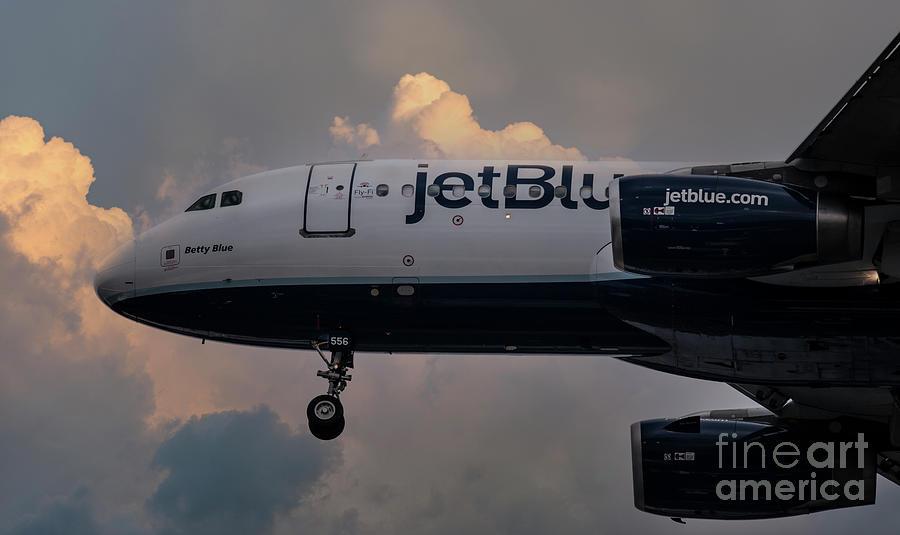 Jet Blue 556 - Final Approach - Chs Photograph