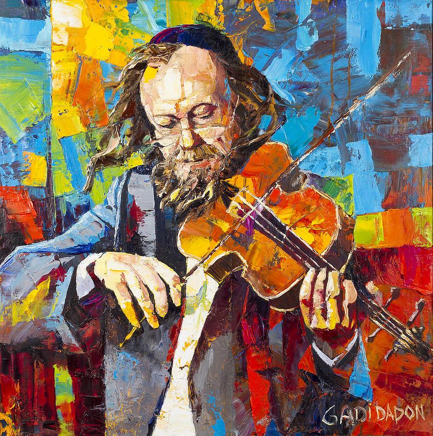 Jewish musician violin  by Gadi Dadon